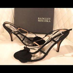 NEW Badgley Mischka Black Satin Shoes